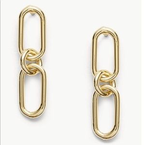Gold Links Interlocking Drop Earrings